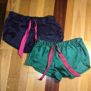 Aerie Silky Pajama Short Bundle